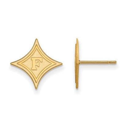 Picture of Furman University Paladins Sterling Silver Gold Plated Small Post Earrings