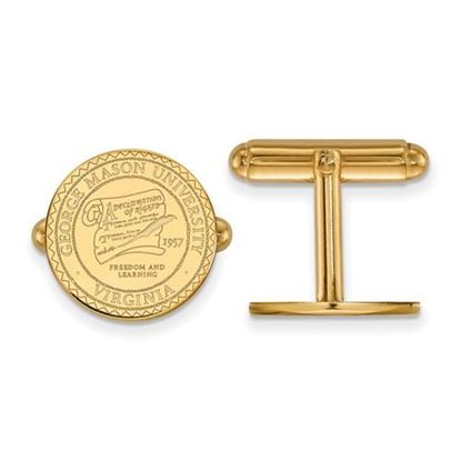 Picture of George Mason University Patriots Sterling Silver Gold Plated Crest Cuff Links