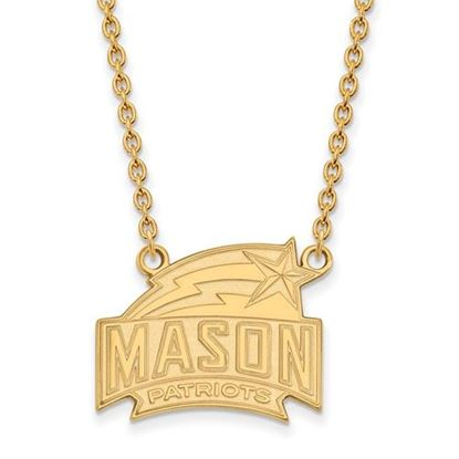 Picture of George Mason University Patriots Sterling Silver Gold Plated Large Necklace