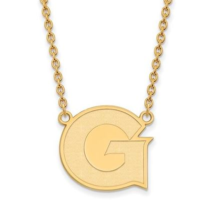 Picture of Georgetown University Hoyas Sterling Silver Gold Plated Large Necklace
