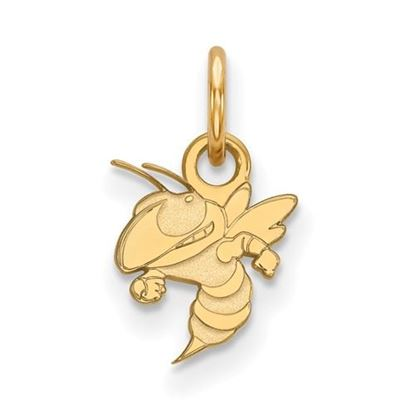 Picture of Georgia Tech Yellow Jackets Sterling Silver Gold Plated Extra Small Pendant