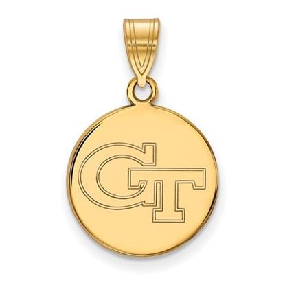 Picture of Georgia Tech Yellow Jackets Sterling Silver Gold Plated Med Disc Pendant