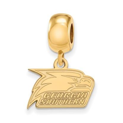 Picture of Georgia Southern University Eagles Sterling Silver Gold Plated Extra Small Bead Dangle Charm