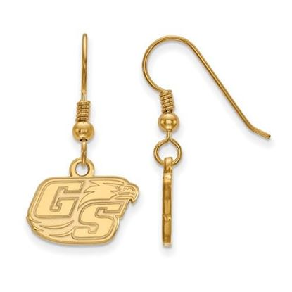 Picture of Georgia Southern University Eagles Sterling Silver Gold Plated Extra Small Dangle Earrings