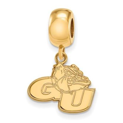 Picture of Gonzaga University Bulldogs Sterling Silver Gold Plated Small Dangle Bead