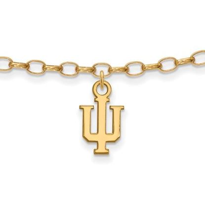 Picture of Indiana University Hoosiers Sterling Silver Gold Plated Anklet