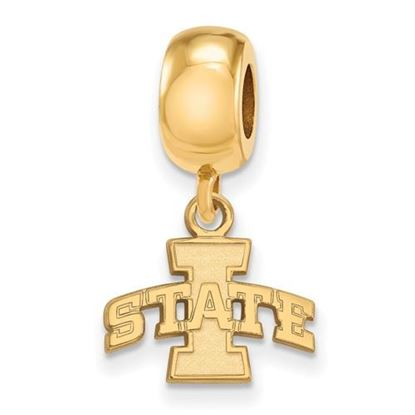 Picture of Iowa State University Cyclones Sterling Silver Gold Plated Extra Small Bead Charm