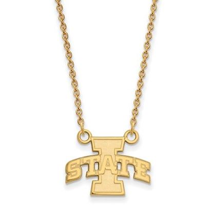 Picture of Iowa State University Cyclones Sterling Silver Gold Plated Small Necklace