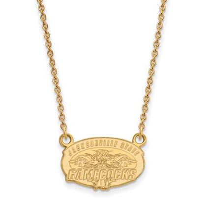 Picture of Jacksonville State University Gamecocks Sterling Silver Gold Plated Small Necklace