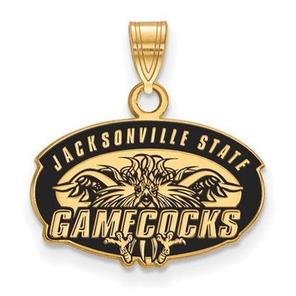Picture of Jacksonville State University Gamecocks Sterling Silver Gold Plated Small Enameled Pendant