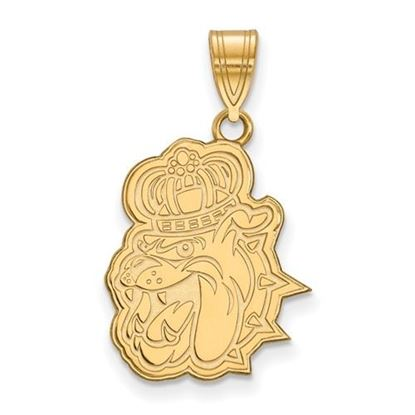 Picture of James Madison University Dukes Sterling Silver Gold Plated Large Pendant