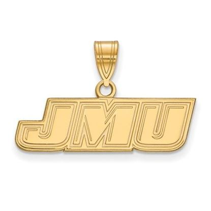 Picture of James Madison University Dukes Sterling Silver Gold Plated Small Pendant