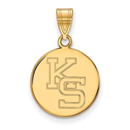 Picture of Kansas State University Wildcats Sterling Silver Gold Plated Medium Pendant