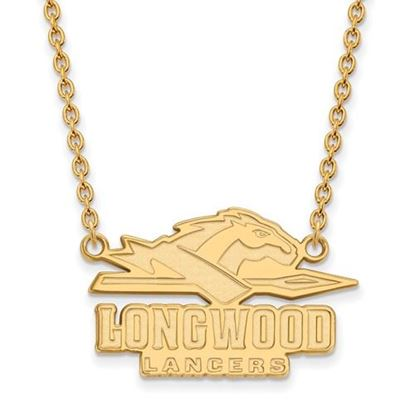 Picture of Longwood University Lancers Sterling Silver Gold Plated Large Enameled Necklace