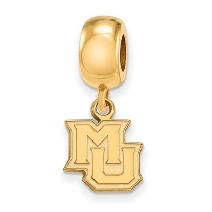 Picture of Marquette University Golden Eagles Sterling Silver Gold Plated Extra Small Bead Charm