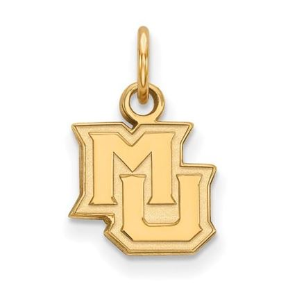 Picture of Marquette University Golden Eagles Sterling Silver Gold Plated Extra Small Pendant