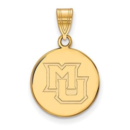 Picture of Marquette University Golden Eagles Sterling Silver Gold Plated Medium Disc Pendant