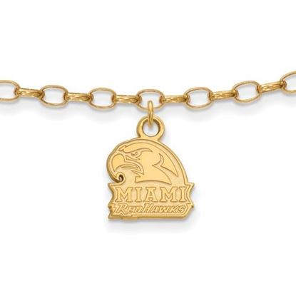 Picture of Miami University Redhawks Sterling Silver Gold Plated Anklet