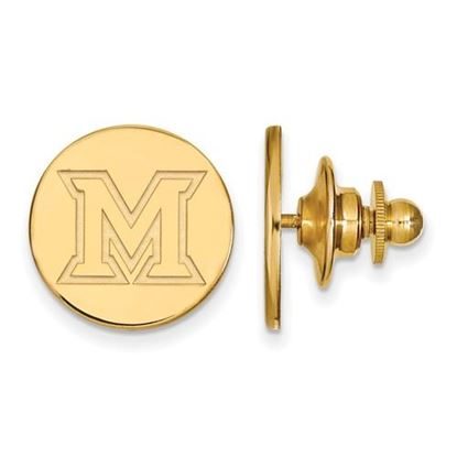 Picture of Miami University Redhawks Sterling Silver Gold Plated Lapel Pin