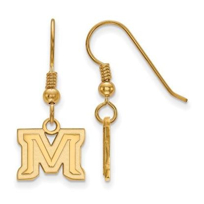 Picture of Montana State University Bobcats Sterling Silver Gold Plated Extra Small Dangle Earrings
