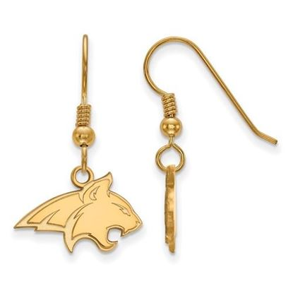 Picture of Montana State University Bobcats Sterling Silver Gold Plated Small Dangle Earrings