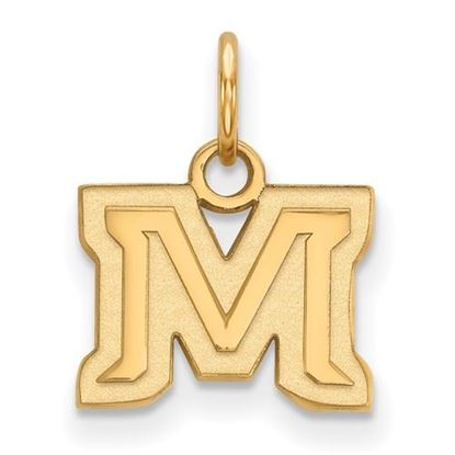 Picture of Montana State University Bobcats Sterling Silver Gold Plated Extra Small Pendant