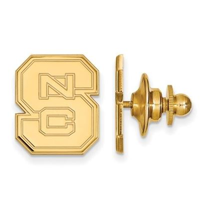 Picture of North Carolina State University Woldpack Sterling Silver Gold Plated Lapel Pin