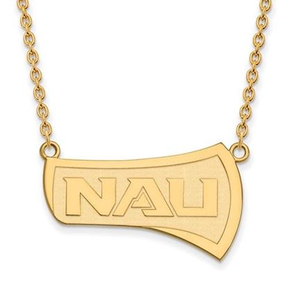 Picture of Northern Arizona University Lumberjacks Sterling Silver Gold Plated Large Necklace