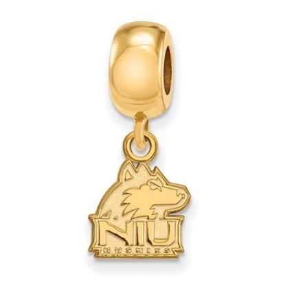 Picture of Northern Illinois University Huskies Sterling Silver Gold Plated Extra Small Dangle Bead