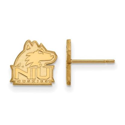 Picture of Northern Illinois University Huskies Sterling Silver Gold Plated Extra Small Post Earrings