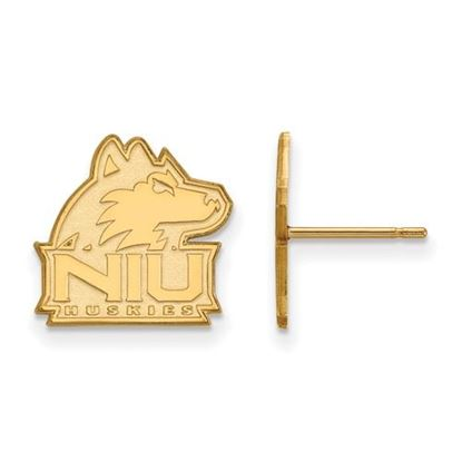 Picture of Northern Illinois University Huskies Sterling Silver Gold Plated Small Post Earrings