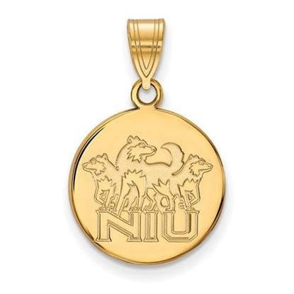 Picture of Northern Illinois University Huskies Sterling Silver Gold Plated Medium Disc Pendant