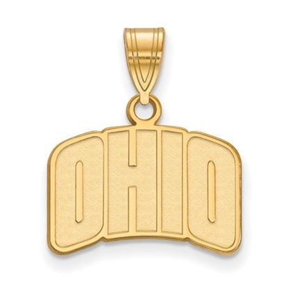 Picture of Ohio University Bobcats Sterling Silver Gold Plated Small Pendant