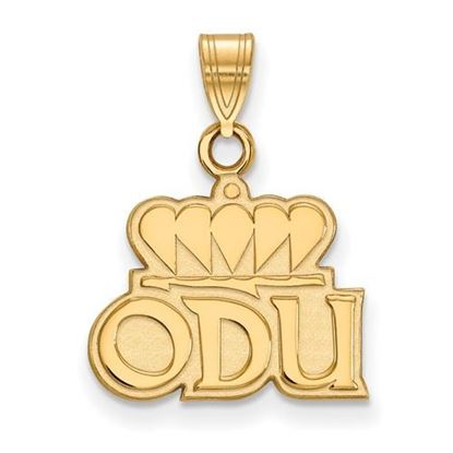 Picture of Old Dominion University Monarchs Sterling Silver Gold Plated Small Pendant