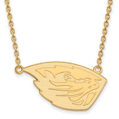 Picture of Oregon State University Beavers Sterling Silver Gold Plated Large Necklace