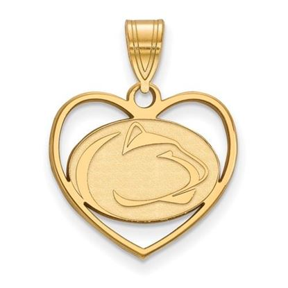 Picture of Penn State University Nittany Lions Sterling Silver Gold Plated Heart Pendant