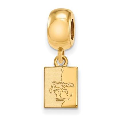Picture of Pittsburgh State University Gorillas Sterling Silver Gold Plated Extra Small Bead Charm