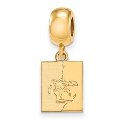 Picture of Pittsburgh State University Gorillas Sterling Silver Gold Plated Small Dangle Bead