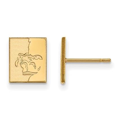 Picture of Pittsburgh State University Gorillas Sterling Silver Gold Plated Extra Small Post Earrings
