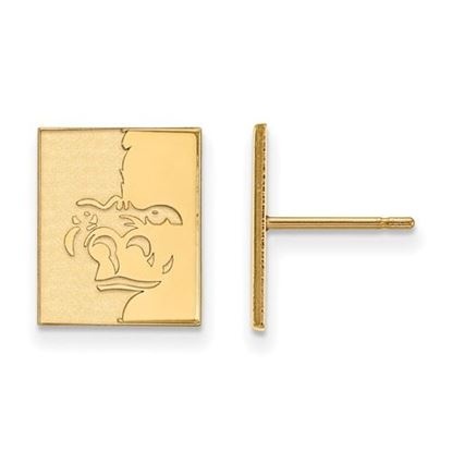 Picture of Pittsburgh State University Gorillas Sterling Silver Gold Plated Small Post Earrings