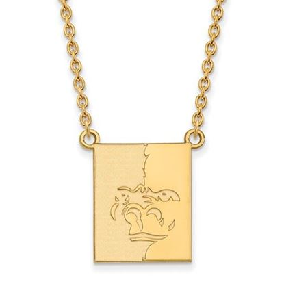 Picture of Pittsburgh State University Gorillas Sterling Silver Gold Plated Large Necklace