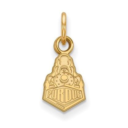Picture of Purdue University Boilermakers Sterling Silver Gold Plated Extra Small Pendant