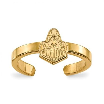 Picture of Purdue University Boilermakers Gold Plated Toe Ring