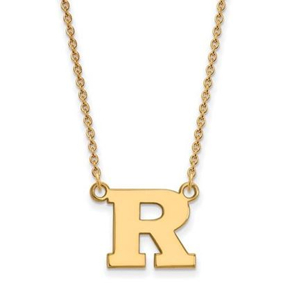 Picture of Rutgers University Scarlet Knights Sterling Silver Gold Plated Small Necklace
