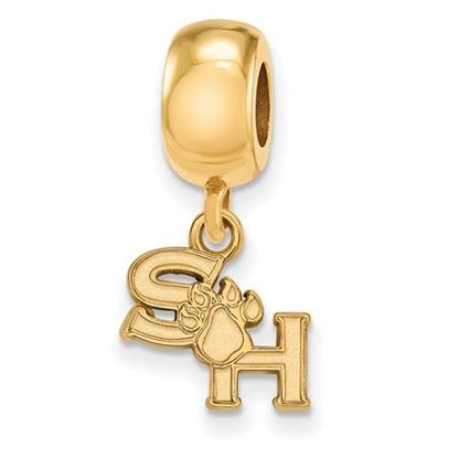 Picture of Sam Houston State University Gold Plated Extra Small Dangle Bead Charm
