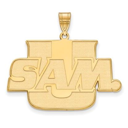 Picture of Samford University Bulldogs Sterling Silver Gold Plated Large Pendant