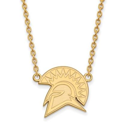 Picture of San Jose State University Spartans Sterling Silver Gold Plated Large Necklace