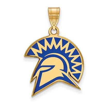 Picture of San Jose State University Spartans Sterling Silver Gold Plated Large Enameled Pendant
