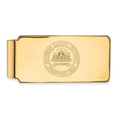 Picture of Southern Illinois University Salukis Sterling Silver Gold Plated Crest Money Clip