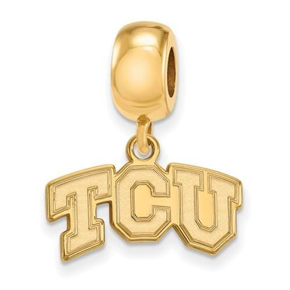 Picture of Texas Christian University Horned Frogs Sterling Silver Gold Plated Extra Small Bead Charm